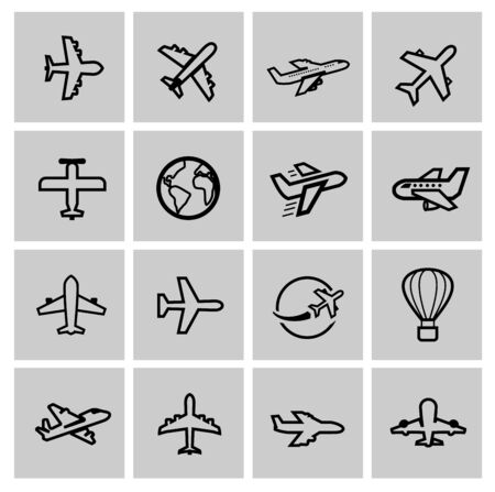 airplane icon: airplane icons