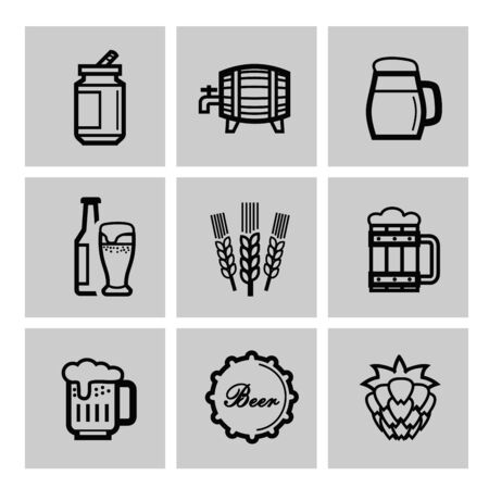 beer icons photo
