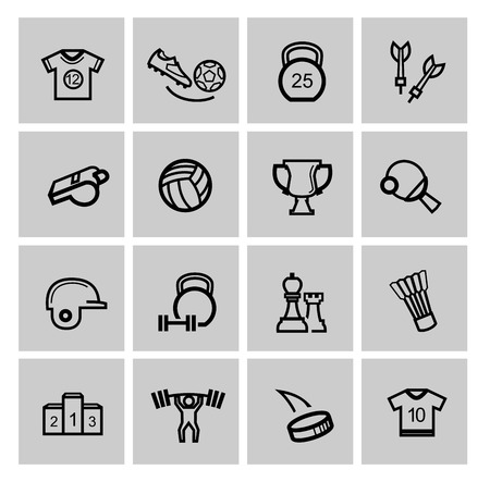 a collection of awards icon: Sports icons Stock Photo