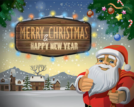 vector merry christmas and happy new year illustration illustration
