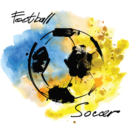 football fan: vector hand drawn picture of football