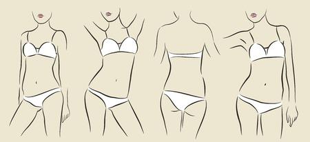 vector illustratie van de vrouw in bikini