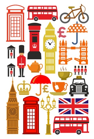 vector color uk icon set on white photo