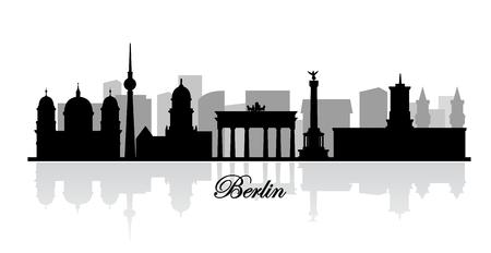 vector berlin skyline silhouette photo