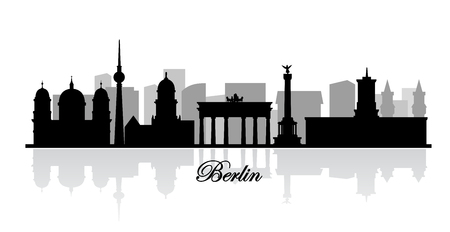 chancellery: vector berlin skyline silhouette