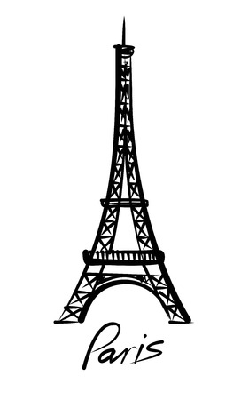 tower: vector Eiffel tower Stock Photo