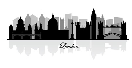 london skyline: vector london skyline silhouette