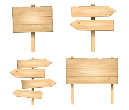 vector houten borden