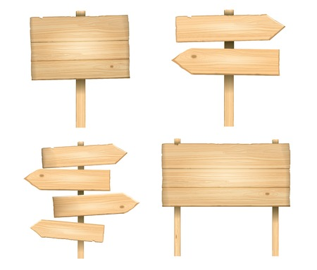 Vectores de madera signos Foto de archivo - 26428037