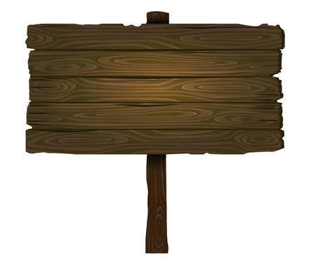 vector wooden sign photo