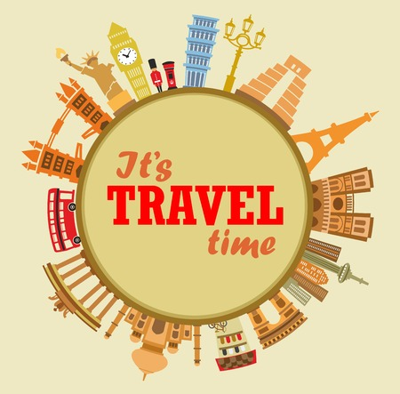 advertising construction: travel background