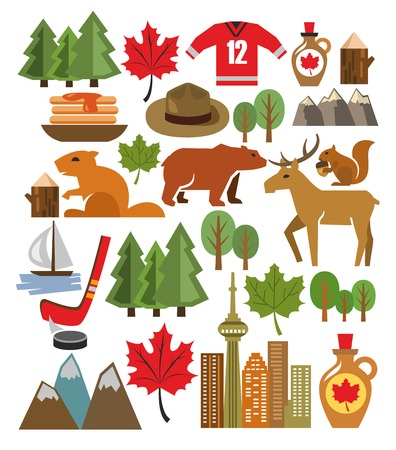 vector canada icon set photo