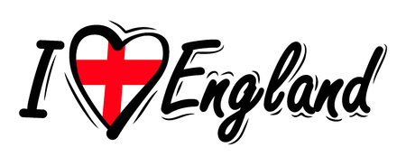 I Love England vector photo