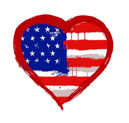 I Love USA vector photo