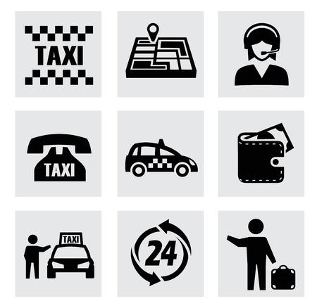 vector taxi icons set photo