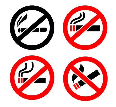 smoldering: No smoking icons
