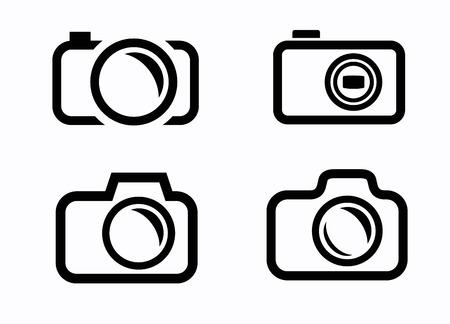 camera icons Stock Photo