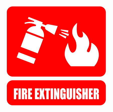 fire extinguisher symbol: Fire extinguisher Stock Photo