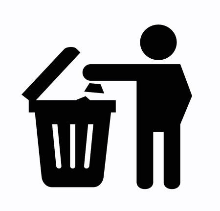 dumping: Recycling symbol Stock Photo