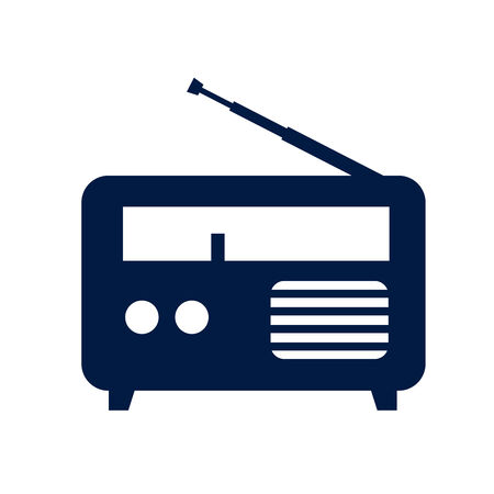 internet radio: Radio icon Stock Photo