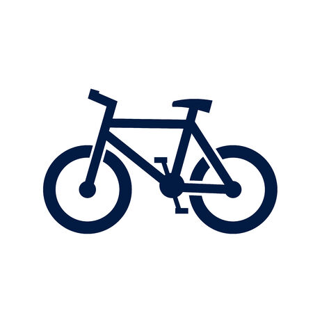 pedal: bicycle icon Stock Photo