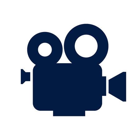 Cinema camera icon Stock Photo