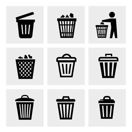 cesto basura: Icono de papelera