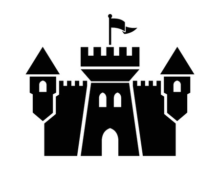 castle silhouette: castle icon Stock Photo