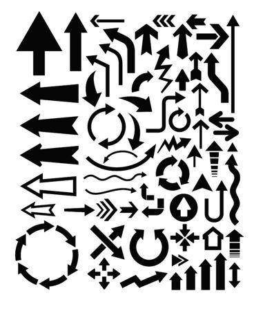 flechas curvas: Icono de las flechas