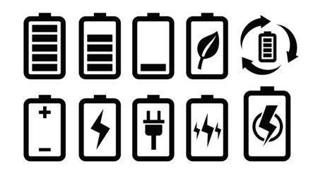 cadmium: battery icon Stock Photo