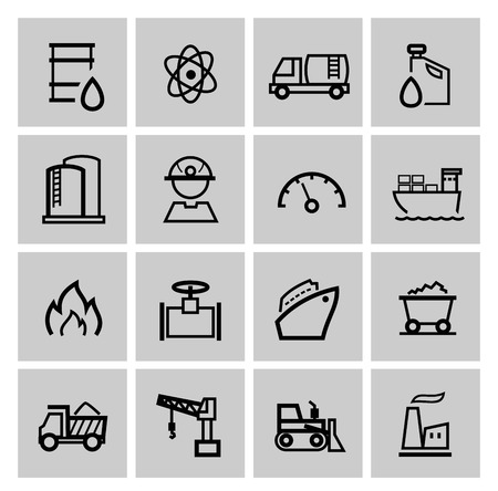 industrial icon: vector power and energy icons Stock Photo