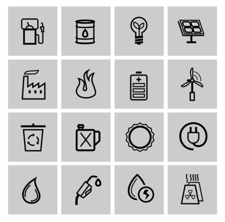 vector power and energy icons photo