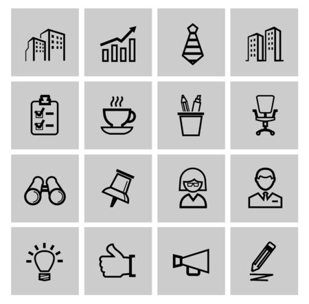 easy chair: vector black business icons