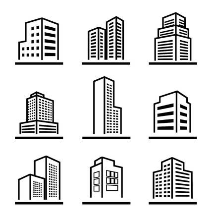 Buildings icons photo