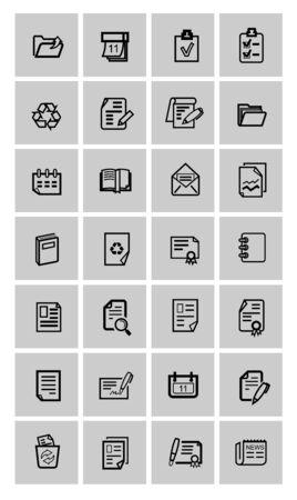 folio: vector document icons set