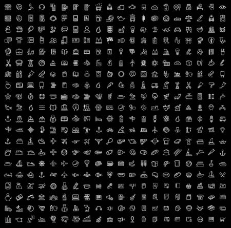 vector black 400 universal web icons set Vector