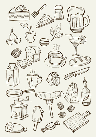 the grater: menu icons Illustration