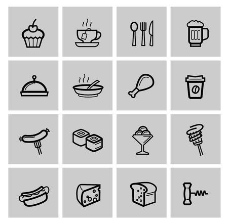 japanese dessert: vector food icons set Illustration