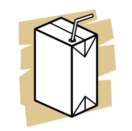 vector black milk box icon on white Vector