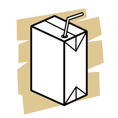 vector black milk box icon on white Vector