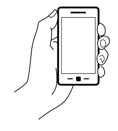 mobile phone icon: vector black Mobile phone icon on white background Illustration