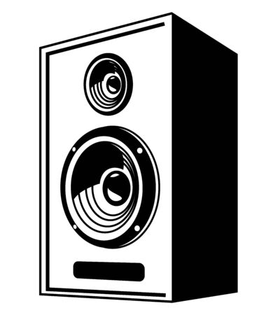 speaker icon: vector black Speaker icon on white background