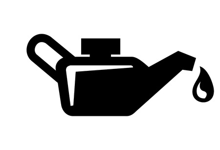 vector black engine oil icon on white background
