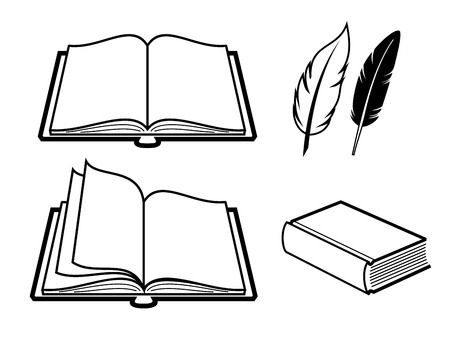 vector black Book icon on white background Vector