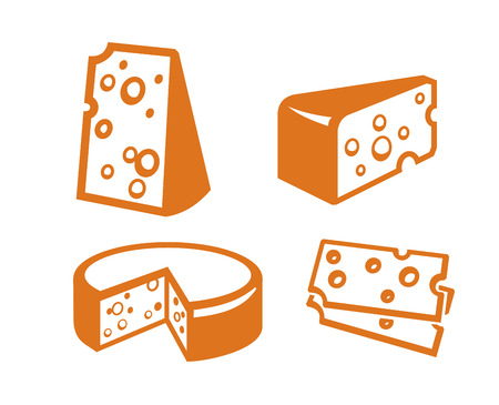 white hole: vector color cheeses icon on white background