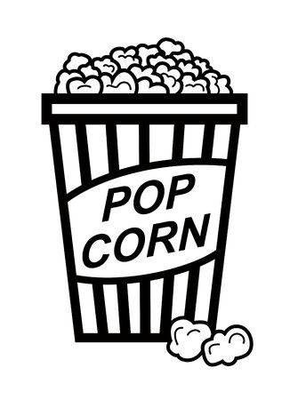 vector black pop corn on white background Vector