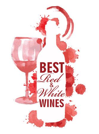 Illustration tirée vecteur main millésime de vin Illustration