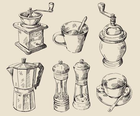 手描きキッチン セット