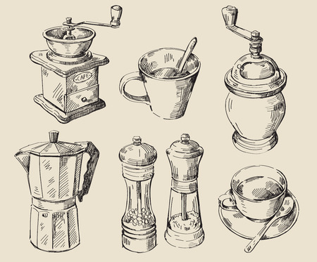 salt: hand drawn kitchen set