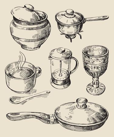 drink tools: hand drawn kitchen set
